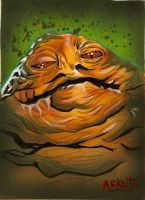 jabba Sketch Card by Azima-el