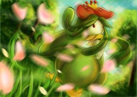 Lilligant used Petal Dance! by Moozika