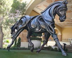Metal Horse Sculpture by MarinaMoon