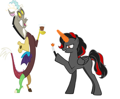 Discord and Amber by thetribeoffire