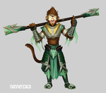 Commission 05122015 - Jade Wukong by nannercoco