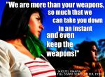 We Are More Than Your Weapons by photo-tlacuilopilo