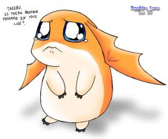 Patamon needs a serious hug by sapphireluna