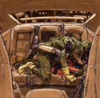 Kick-Ass X Red Mist - Backseat by mavoorik