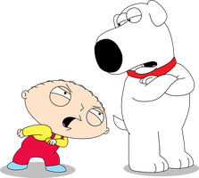 Stewie Said Victory Shall Be Mine to Brian by Mighty355