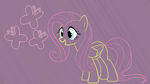 Fluttershy Outline Wallpaper by Bowtied-Pony