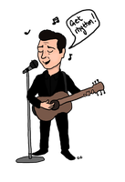 Johnny Cash by TheSimpsonsFanGirl