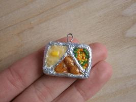 TV Dinner Charm by Fimochu