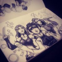 my day 16 shaded for inktober by jrlalas