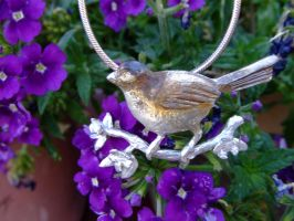 Sparrow necklace by vivalarobots