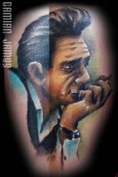 Johnny Cash by Damianink