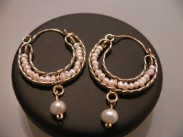 antique brass earrings by irineja