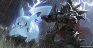 Mordekaiser and Pikachu by ImSkeptical