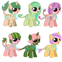 Candy Crush Foals- Set 6 (Snowroseadopts) CLOSED by fa-wn