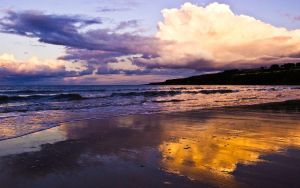 Sunset over East Sands by Yslen
