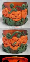 Pumpkin Tea Light Holder 2 by spaceship505