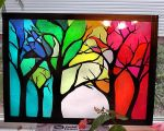 Tissue Paper Stain Glass Forest by Rachet777