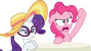Rarity and Pinkie Pie Vector - Come on Pinkie by CyanLightning