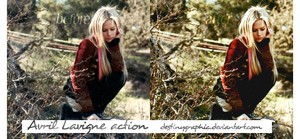Avril Lavigne action by DestinyGraphic