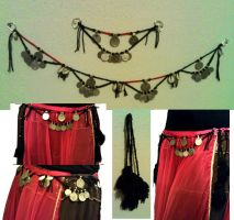 Tribal Belly Dance knotted belt by kungfubellydancer