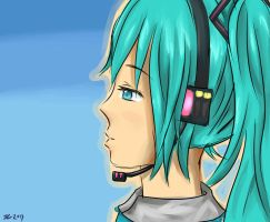 Miku again... by spongebobdeathnote
