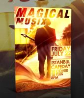 PSD Magical Music Flyer by retinathemes