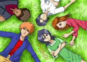 we are friends... in bleach by F-one-R