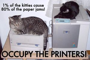 occupy the printers by melallensink