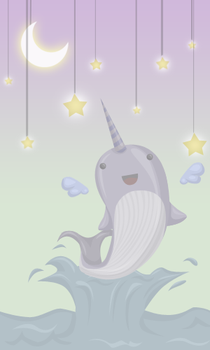 The Magical Narwhal by x-Hidden
