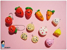 Charms - Fraise, Pomme, Cookie by MeyLi27