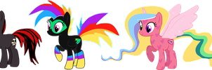 Poorly designed MLPFiM adoptables CLOSED by AdolfWolfed4Life