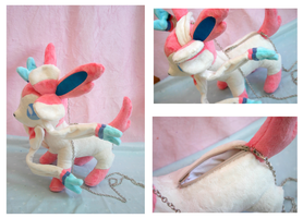 Comm- Plush Sylveon bag by FollyLolly