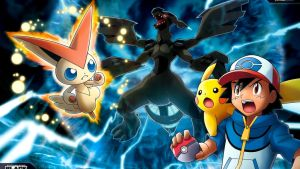Pokemon- Victini and Zekrom Movie (Wallpaper) (02) by Kill3rCombo