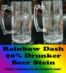 Rainbow Dash Beer Stein by AnimeAmy