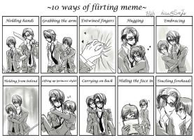 10 ways of flirting . EricAlan by SaeJu12