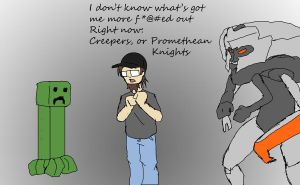 Creepers vs Promethean Knights by SketchyBehavior