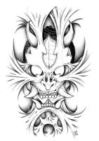 Hannya inside 2 -shadow- by dfmurcia