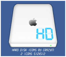 Apple Hard Disk Icons by CrazyEM