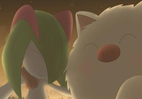 Mankey y Kirlia by All0412