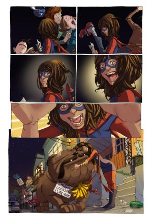 Ms. Marvel coloring practice