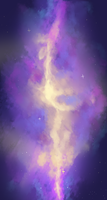 Deformed Galaxy Background by Lythronax