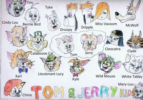 The 20 Faces of Tom and Jerry Kids by PeppermintSoda