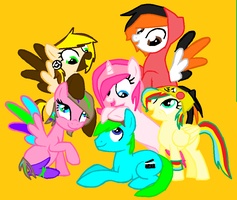 Me,Friends and Bing(Third mane 6) by TheMajesticButter394