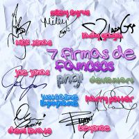 Firmas De Famosos PNG by Justcallmebymyname