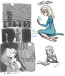 Princess Elsa doodles by Vynndetta