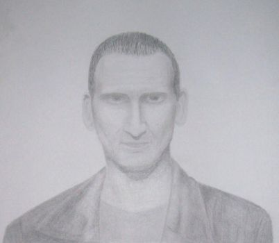 C. Eccleston as the Doctor by yoru-no-ame