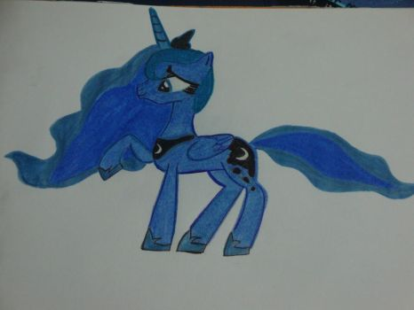 Princess Luna Drawing by LolguyBrony