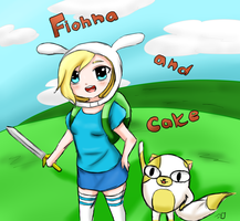 Fionna and cake by Ivy-Desu