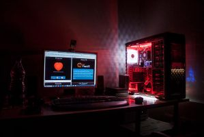 CypherVisor's Workstation Desk - With LEDs by CypherVisor