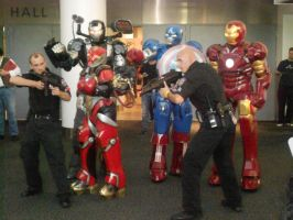 Iron Man group with body guards by Etrigan423